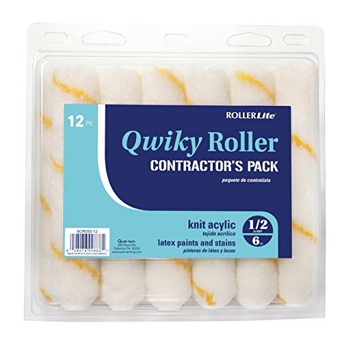 (Quali-Tech 6CR050Q-12 6-Inch Roller Lite Corner Rollers 1/2-Inch Nap Contractor Pack Mini Rollers)