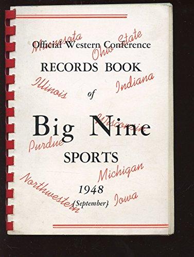 - 1948 Big Nine NCAA Sports Record Book EXmt