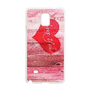 Heart on Wood Samsung Galaxy Note 4 Cell Phone Case White eqjr
