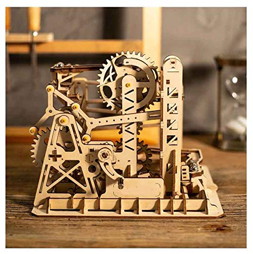 VXB Brand DIY 3D Puzzle Wood Wheel Lift Coaster Manually Operated Toy Kit