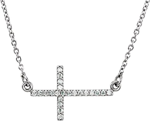 Jewels By Lux 925 Sterling Silver 1//10 CTW Diamond Black Cord 16-18 Necklace