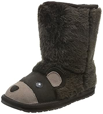 EMU Australia Kids Brown Bear Deluxe Wool Boots Size 1