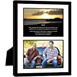 Gift for Dad - Touching Poem From Son or Daughter - Birthday or Fathers Day - 8x10 Inch Frame with Mat - Add Photo