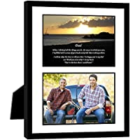 Gift for Dad - Touching Poem for Father From Daughter or Son - 8x10 Inch Frame with Mat - Add Photo