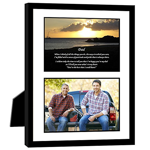 Gift for Dad - Touching Poem From Son or Daughter - Birthday or Christmas - 8x10 Inch Frame with Mat - Add Photo (Father Poems Christmas)