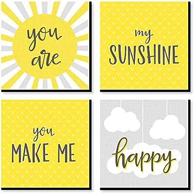 Big Dot of Happiness You are My Sunshine - Kids Room, Nursery
