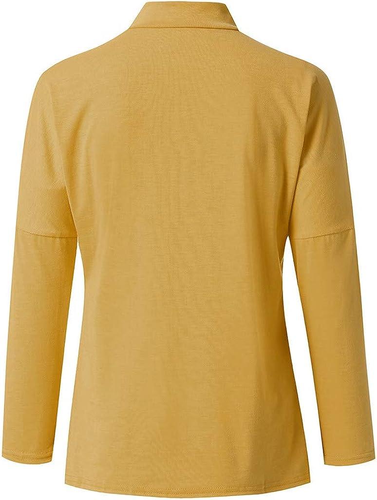 SANFASHION Damen Pulli Sweater Herbst Winter Casual Splei/ßen Farbe Collision Lange /ärmel Plus Gr/ö/ße Easy Tops