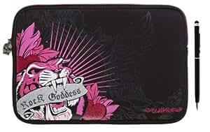 Emartbuy ® Función Dual Negro Stylus + Glamrox Tigre Negro (10-11 Pulgadas Tablet / Ereader / Netbook) Neopreno Duradero Con Acolchado Interior De Caja Zip Soft / Cubierta Adecuada Para Toshiba At300 / At300 Se