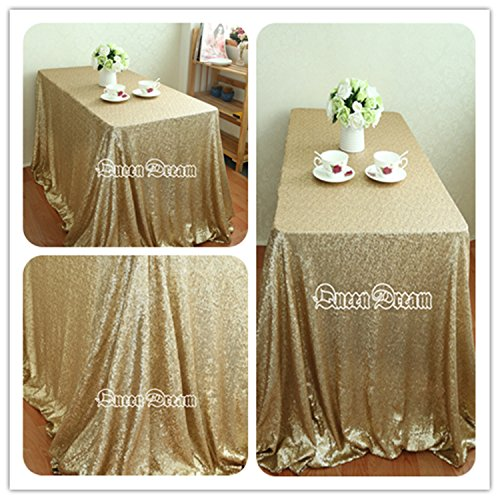 sequined tablecloth 50 matte gold
