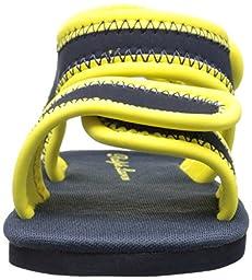 Ralph Lauren Layette Rip Tide Aqua Shoe (Infant/Toddler), Navy/Yellow, 1 M US Infant