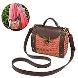 Top Handle Straw Bag, JOSEKO Womens Straw Handbag Shoulder Bag for Beach Travel and Everyday Use Camel 7.87''L x 4.72''W x 5.90''H