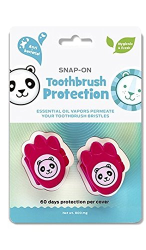 Dr. Tung's Kids Toothbrush Sanitizer (Pack of 2) Lasts Up to 8 Months, Revolutionary, Hygienic, Freshening, Uses Powerful and Natural Vapors, No Mess, No Fuss, Ideal, Convenient, No Batteries Needed