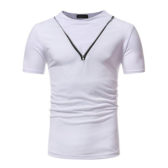 GUOCU Hombre Sudadera sin Capucha Camisetas Deporte Ropa Deportiva Camisa Slim fit Casual Tops Blusa T-Shirt: Amazon.es: Ropa y accesorios