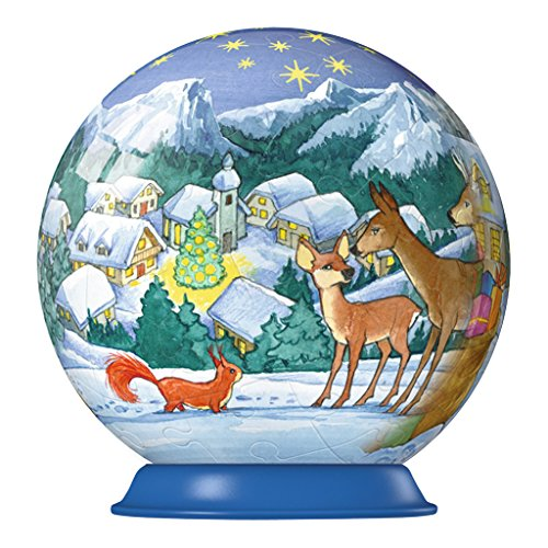 Christmas Tree Ornament Puzzleball: 54 Pieces (Deer)