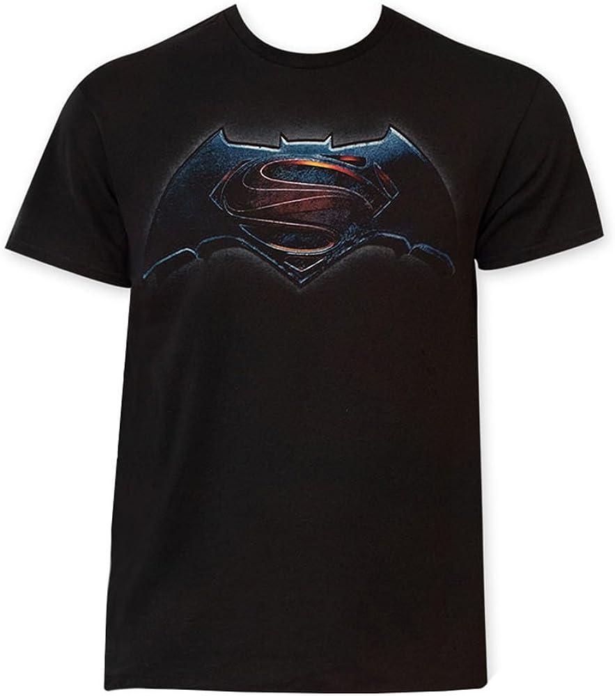 DC Comics Batman vs. Superman Mixed Logo Camiseta Negra para Hombre | S: Amazon.es: Ropa y accesorios
