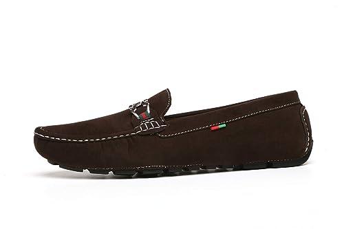 Zapatos Caballeros Mocasines Deslizante Conducción Negro O Marrón Ante Mocasines: Amazon.es: Zapatos y complementos