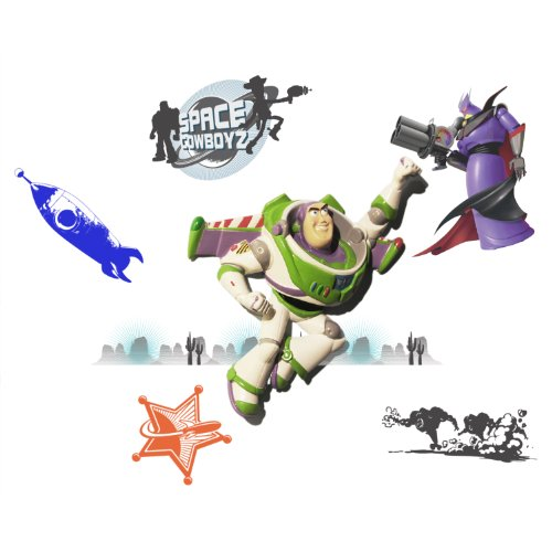 Wallables 3D Wall Dcor - Buzz Light-year from Disney / Pixar Toy Story 1, 2 and academy award winning Toy Story 3, 3-Dimensional Soft Foam Toy Wall Dcor, Now with Bonus repositional (Award Winning Costumes)