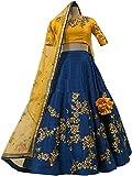 Style Villa Women's Georgette Lehenga Choli (Multicolor_Free Size, Semi-Stitched )
