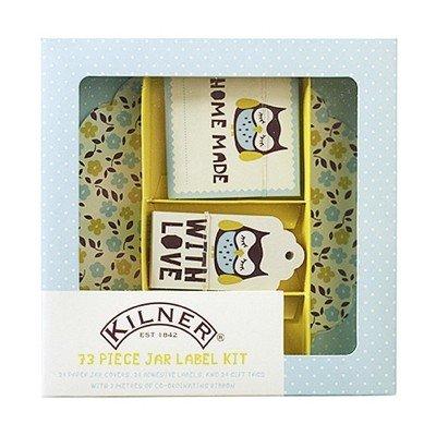 Kilner 73 Piece Label Set, Owl