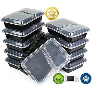 Amazon.com: Green Direct Contenedor de alimentos con tapa ...