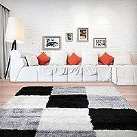 Stylish Super Soft Shaggy Rug in Cubed Pattern160x230cm