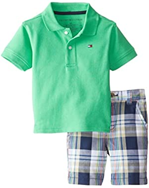 Tommy Hilfiger Baby Boys' Ivy Polo Pique Set