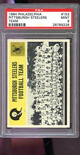 1964 Philadelphia #153 Pittsburgh Steelers Team Photo PSA 9 Graded Football Card