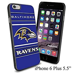"""NFL BALTIMORE RAVENS , Cool iPhone 6 Plus (6+ , 5.5"""") Smartphone Case Cover Collector iphone TPU Rubber Case Black"""