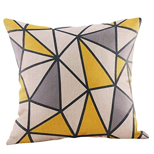 Dressin Best Chirismas Gifts for Family Friends Cotton Linen Throw Pillow Case Cushion Cover(A-T ()
