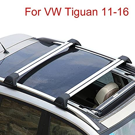 Panoramic Sunroof Quiet For VW Volkswagen Tiguan 2011 2016 Baggage Luggage Roof  Rack Rail Cross