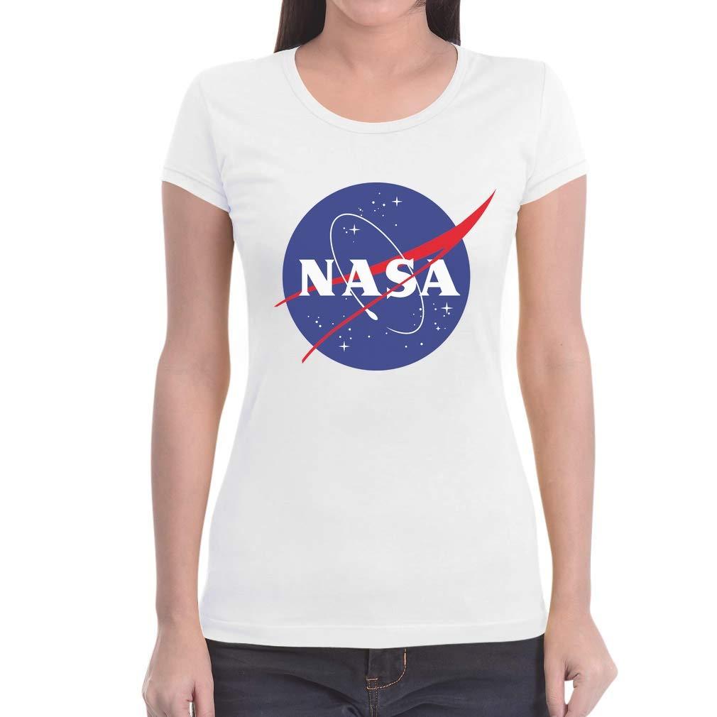 NASA Logo Galaxy Streetwear Outfit Maglietta da Donna Slim Fit