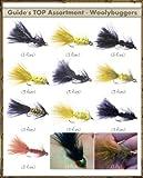 FlyDeal Fishing Flies Top Selling Flies - Guide's TOP Assortment - WOOLLY BUGGERS (32 flies)
