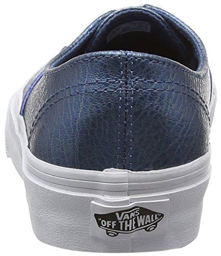 Basse da Leather Scarpe Authentic Adulto Blu Vans Metallic Blue Decon Unisex Ginnastica qFBHSwx4