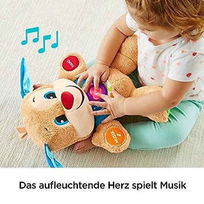 Fisher-Price FPM50 - Lernspaß Hündchen Baby Spielzeug und Plüschtier, Lernspielzeug mit Liedern und Sätzen, mitwachsende Spielstufen, Spielzeug ab 6 Monaten, deutschsprachig 4
