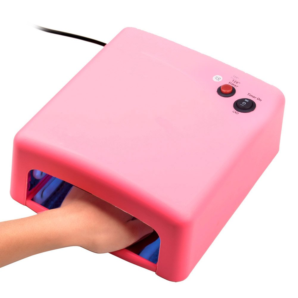Ckeyin ® 36W UV Nail Dryer Art Gel Best Curing Light Dryer Nail Art Lamp Care Machine UV Light Nail Dryer (Pink) (Pink)