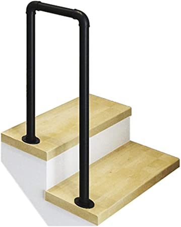 Barandilla de Escalera de Hierro Forjado de 35-100 cm/Pasamanos de tubería de Agua Tipo U Industrial/Adecuado para escaleras Home Villas Corridor/En Blanco y Negro: Amazon.es: Hogar