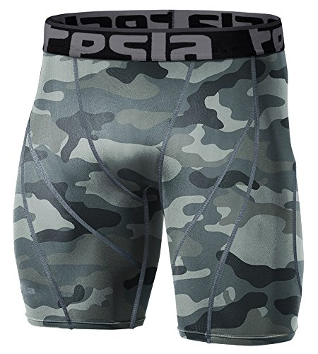 Tesla Men's Compression Shorts Baselayer Cool Dry Sports Tights S17-CGYZ_X-Small
