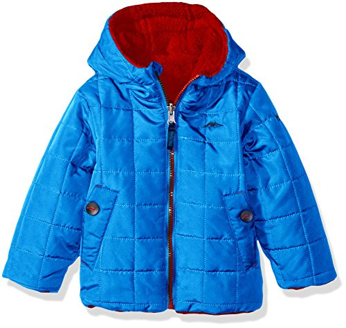 Skydiver Little with Boys' Berber Jacket Pacific Blue Reversible Trail Toddler Fleece 56gxv4