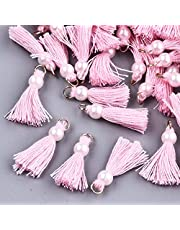 Multi-Color Mini Tassels Charms Handmade DIY Silky Tiny Tassels Pendants Colorful Keychain Tassel
