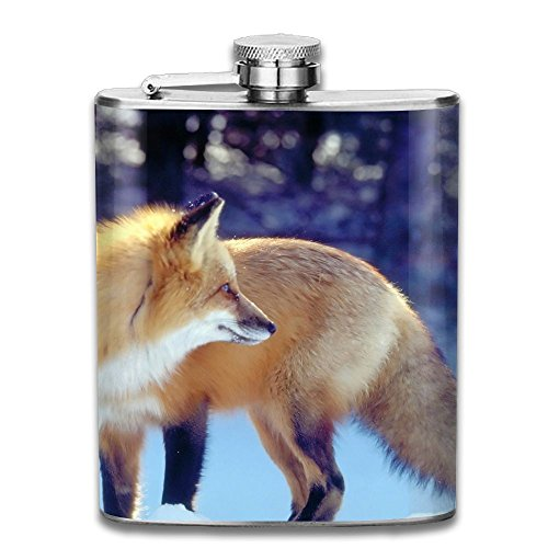 Snow Day Fox Portable Alcohol Drink Bottle Outdoor Sport Hip Wine Stainless Steel Flask & Funnel Set,7 - Chicago The Hip Mall