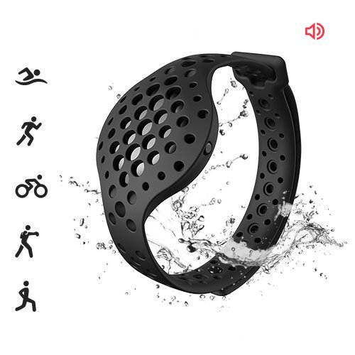 3D Fitness Tracker & Real Time Audio Coach, Moov Now:Swimming Running Water Resistant Activity Calories Tracker with Sleep Monitor, Bluetooth Smart Wristband for Android and iOS, Stealth Black (Counter Track Lap)