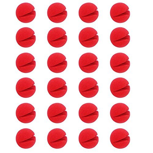 LuckyStar365 24PCS Foam Clown Nose,Red Circus Clown Nose Party Costume Supplies