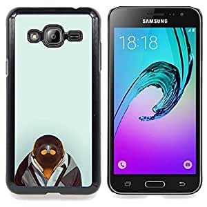 Ihec Tech Pingüino en Hipster Traje;;;;;;;; / Funda Case back Cover guard / for Samsung Galaxy J3 GSM-J300