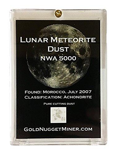 Genuine Moon Dust in Display Case with Information! Real Lunar Meteorite Dust!