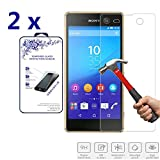 2x For Sony Xperia M5 Tempered Glass Screen Protectors , Nacodex® 9H Hardness, 2.5D Rounded Edges, 0.3mm Thickness [2 Pack] (For Sony Xperia M5)