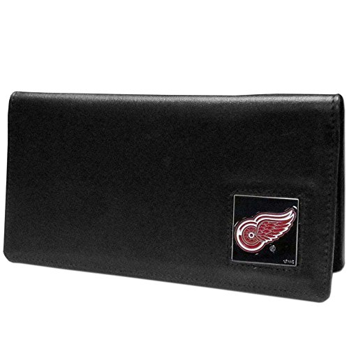 NHL Detroit Red Wings Leather Checkbook Cover