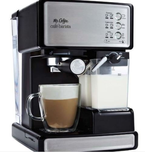 Barista Espresso Automatic Coffee Machine Maker Mr. Coffee Cafe Cappuccino Latte