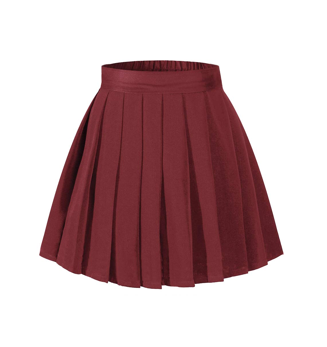 Beautifulfashionlife Women's High Waist Mini Skirt Tennis Elastic Shorts Wine Red,2XL by Beautifulfashionlife