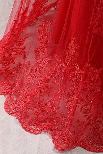 JAEDEN Sin tirantes Encaje Vestidos de baile Largo Sirena Vestido de fiesta Compromiso vestido Naranja