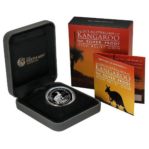 2013 Silver Australian Kangaroo Proof High Relief Perth Mint - Proof Kangaroo